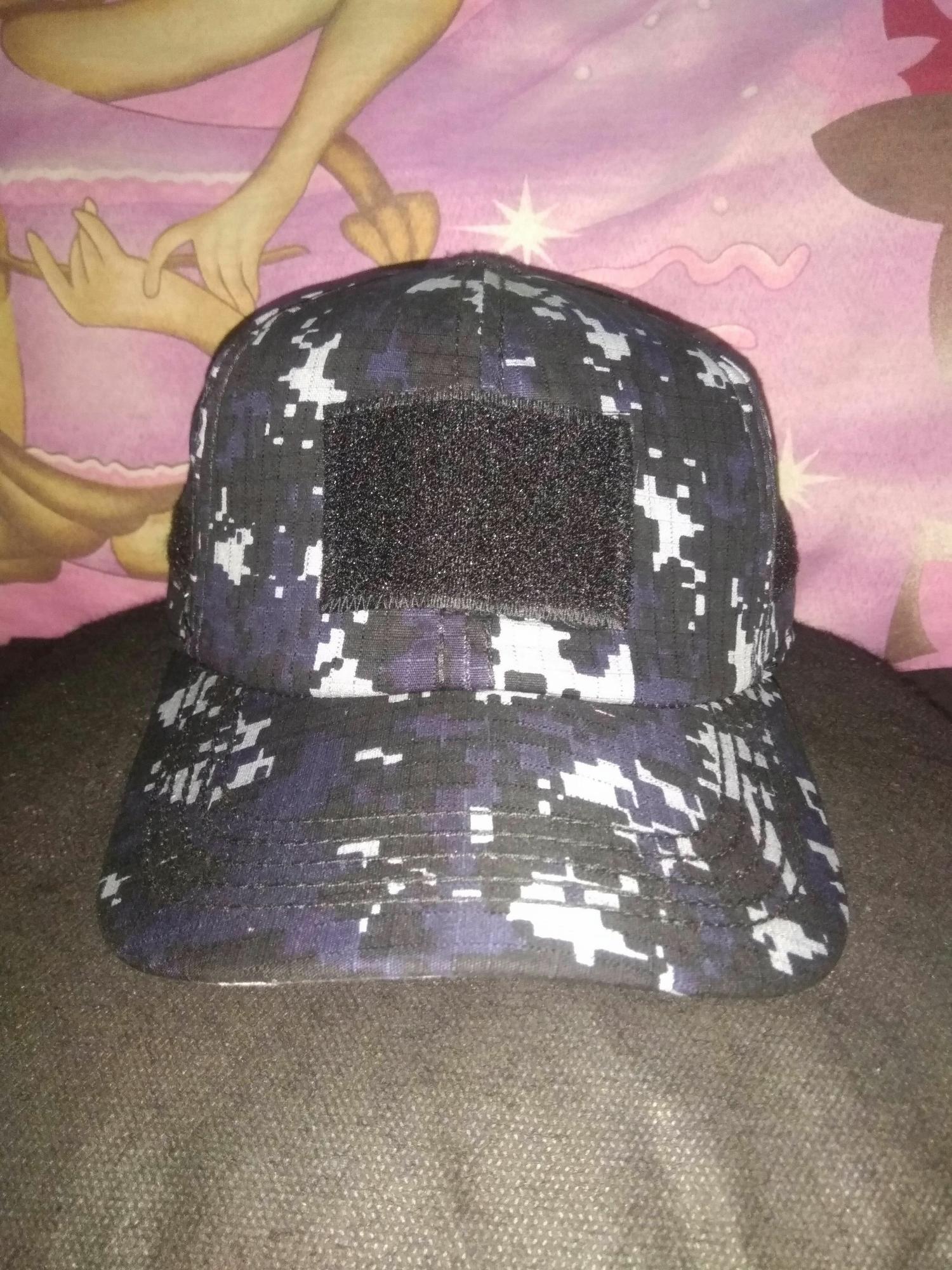 King's topi tactical biru navy loreng