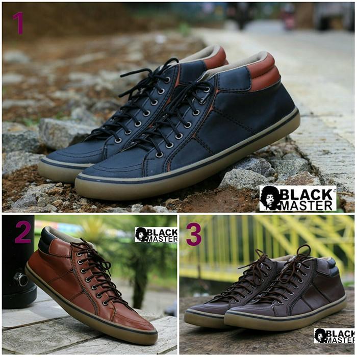 Sepatu Sneakers Pria Black Master Geox Casual Kuliah GRATIS 1KAOS KAKI