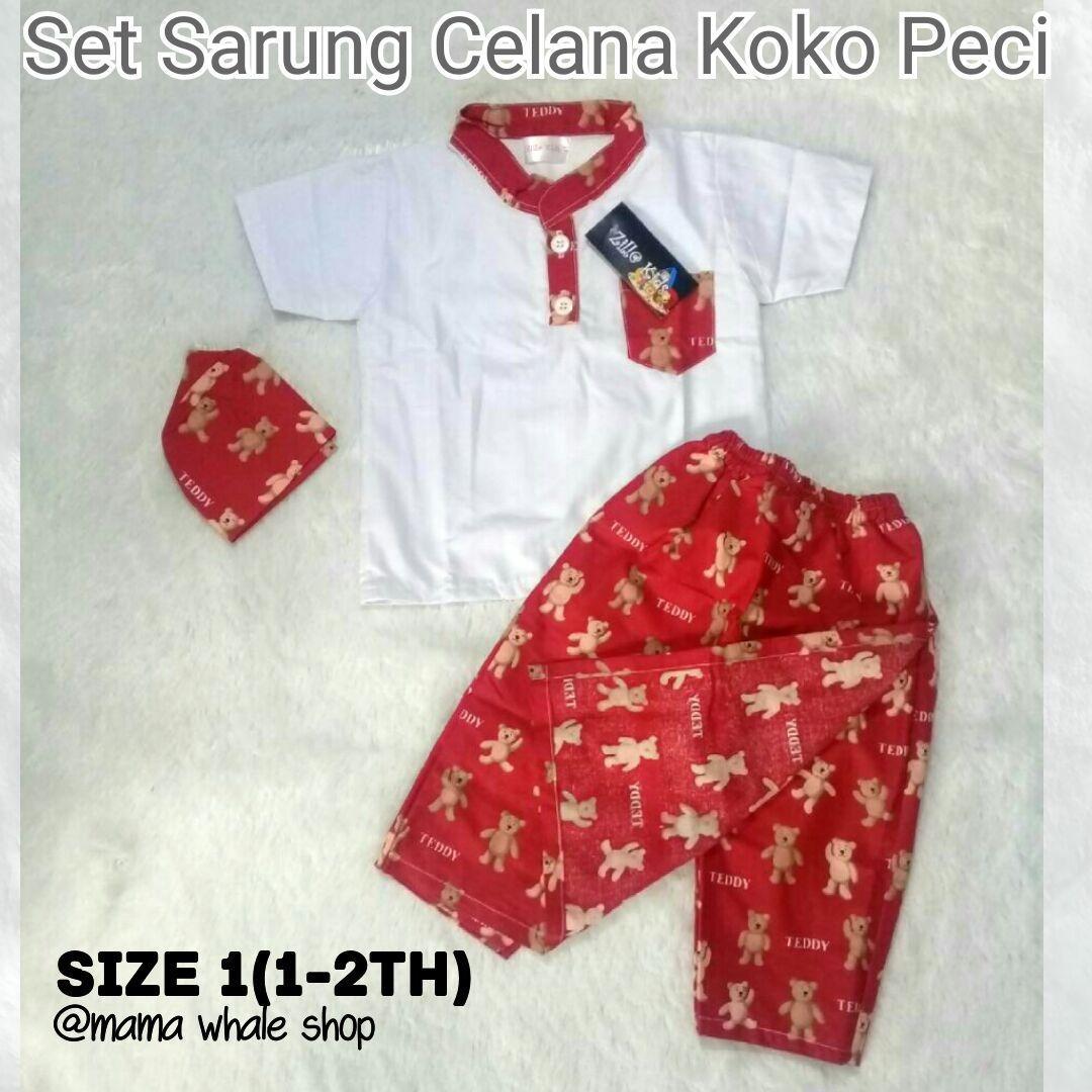 NEW! Sarung Celana Koko Peci (SarCelKoCi) - (1-11th) - Koko Anak Cowok - Baju Muslim Anak Murah