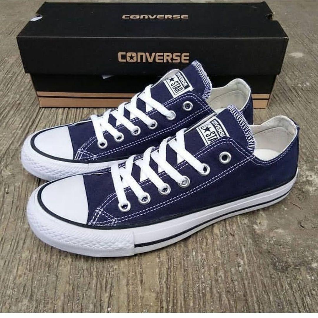 Sepatu casual converse all star navy canvas-sepatu sekolah-sepatu sneakers