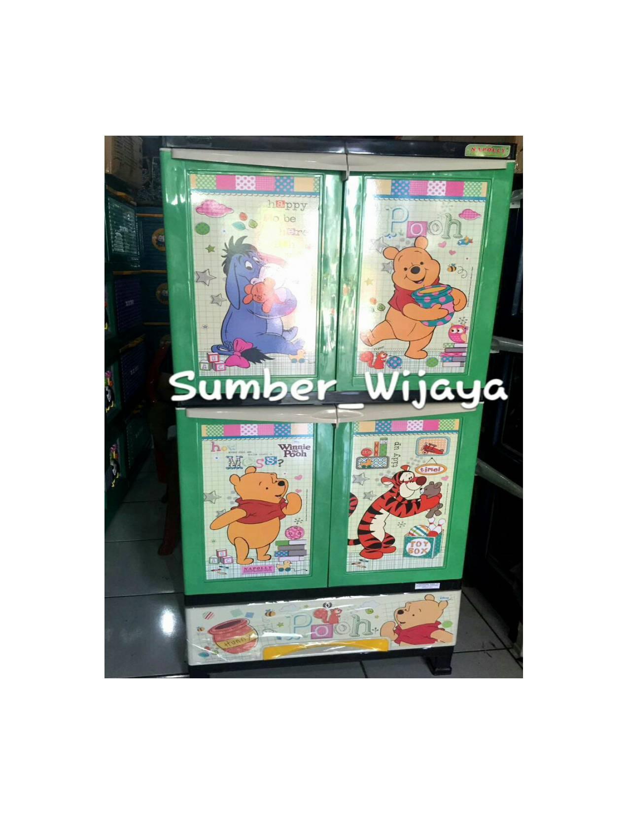 Lemari Plastik Napolly Susun 4 - Winnie The Pooh B2L2POOH
