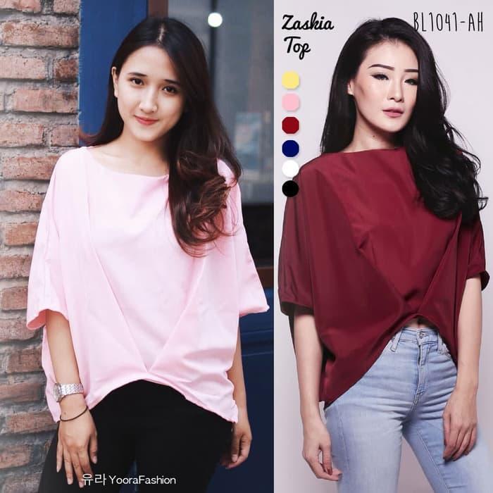 Zaskia Top Blouse Atasan Baju Wanita BL1041-AH