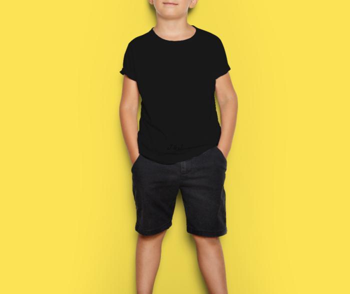 Jual Kaos Anak Warna Hitam Laki dan Perempuan Murah