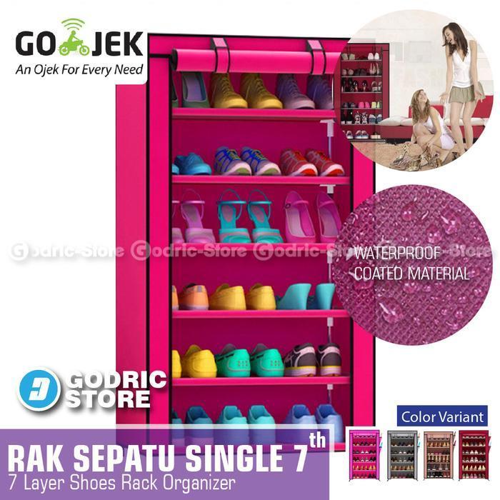 Godric Rak Sepatu SINGLE 7th / Lemari Sepatu / Shoes Rack 56 x 25 x 105 CM