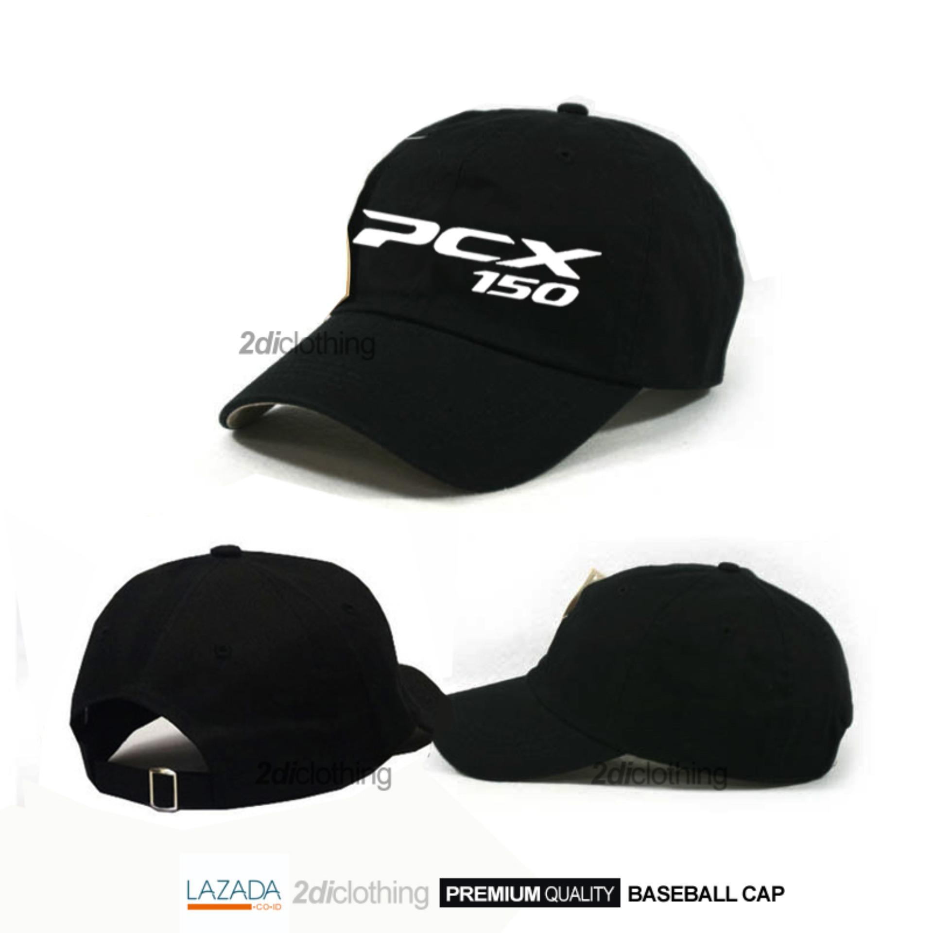 Topi baseball distro PCX black premium