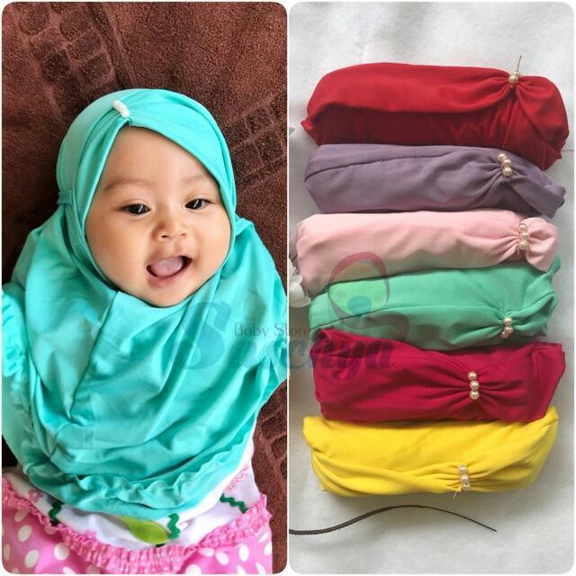 Fitur Hijab Jilbab Anak Bayi Murah Model Aluna Mutiara Dan Harga