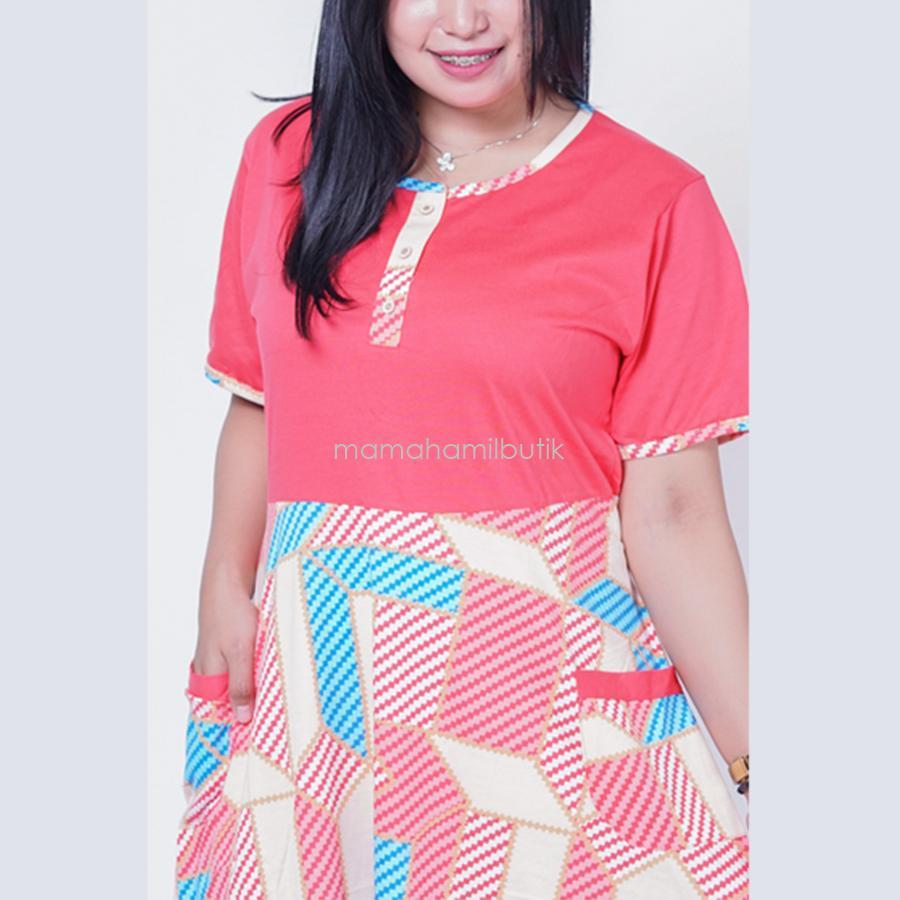 Fitur Mama Hamil Daster Jumbo Belah Ketupat Bali Menyusui Busui Bumil Batik Ibu