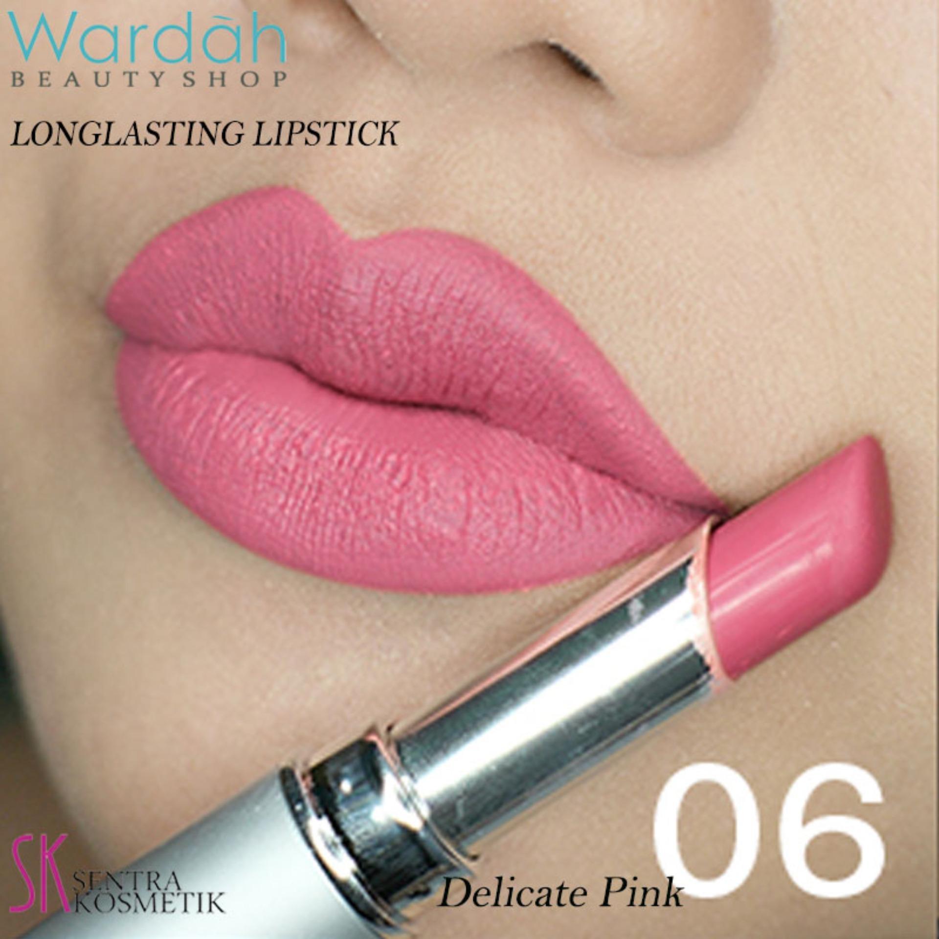 Wardah LONGLASTING Lipstick No.06 Delicate Pink