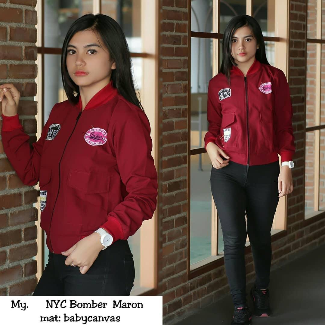 Jaket NYC Bomber - Fashion Sport Wanita