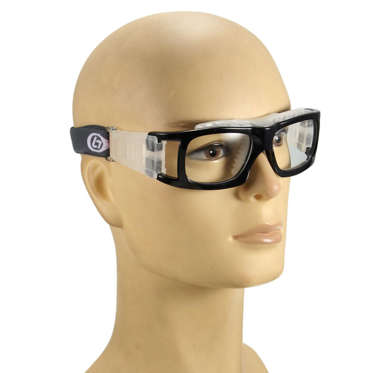 ... 4 Pcs Olahraga Sepak Bola Basket Kacamata Mata Kacamata Pengaman Pelindung Elastis Hitam-Intl ...