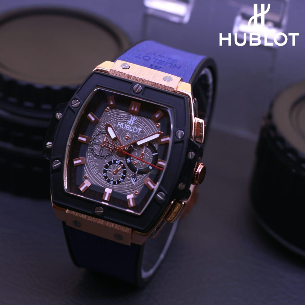 Jam Tangan Hublot Picasso - Limited Edition Elegant Series-Pria Wanita Formal Kasual Terbaru-Women or Men Luxury Watch-Leather Strap-Kulit Kanvas Army Kekinian Sporty Fashionable Bonus Zippo Premium Beam Korek Free Trend 2018