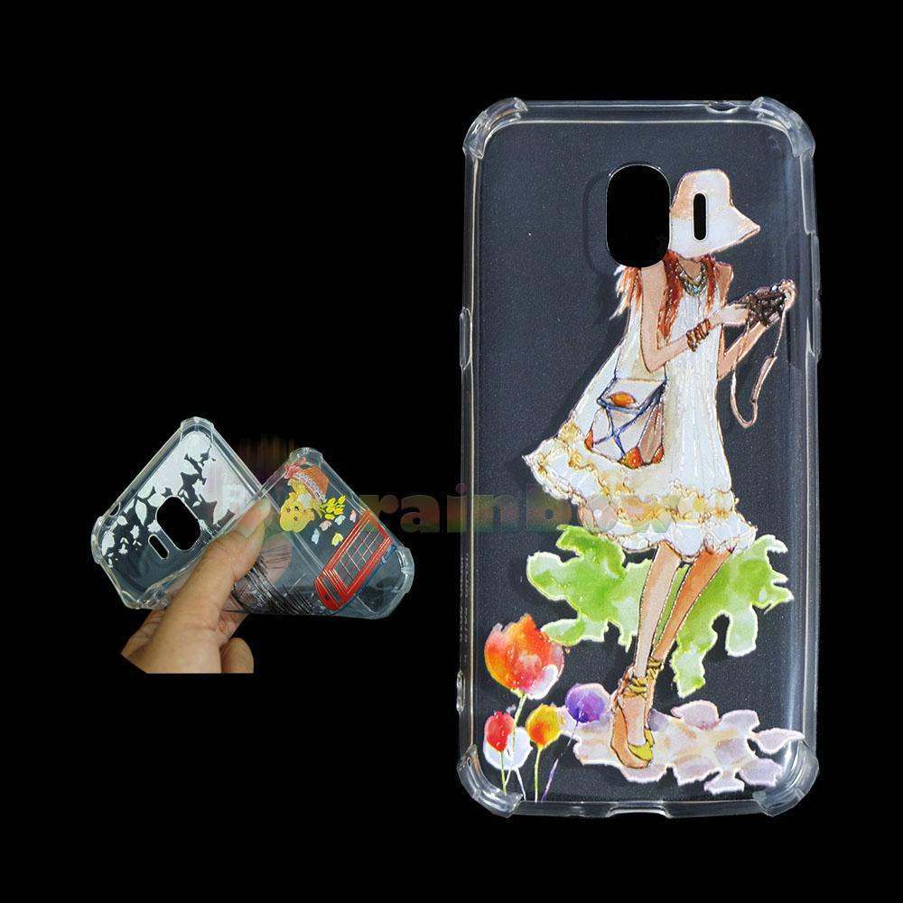 Rainbow Anti Crack Case Custom Samsung Galaxy J2 Pro 2018 Ladies Camera / Case Anti Crack Animasi Samsung J2 Pro 2018 / Casing Samsung J2 Pro 2018 / Silikon Case Unik / Jelly Case Gambar Ilustrasi- Gadis Photographer