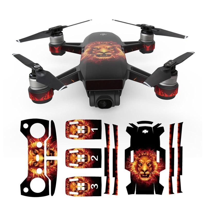 Hình ảnh Camouflage Camera Drone Decals for DJI Spark Skin UAV PVC Carbon Fiber Stickers for DJI Spark Accessories