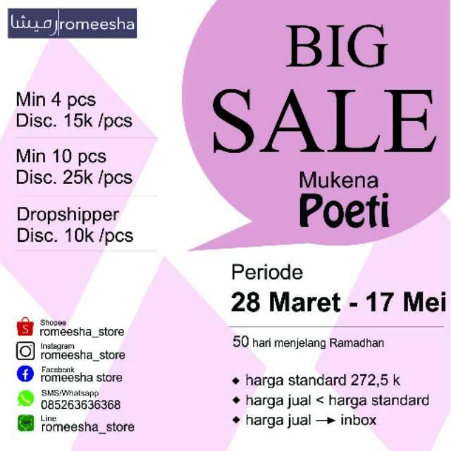 Mukena Katun Silky, Poeti Premium (HARGA BISA DITAWAR)