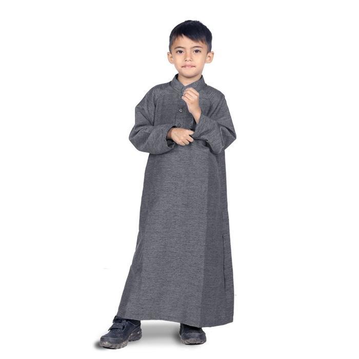 BAJUYULI - Baju Muslim Anak Laki Laki Gamis Koko - Abu KGIA01
