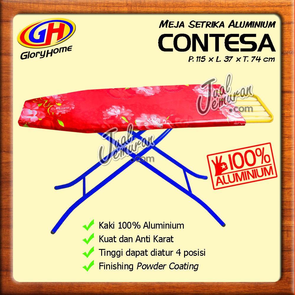 Meja Setrika Aluminium Fleksibel Murah - Merah