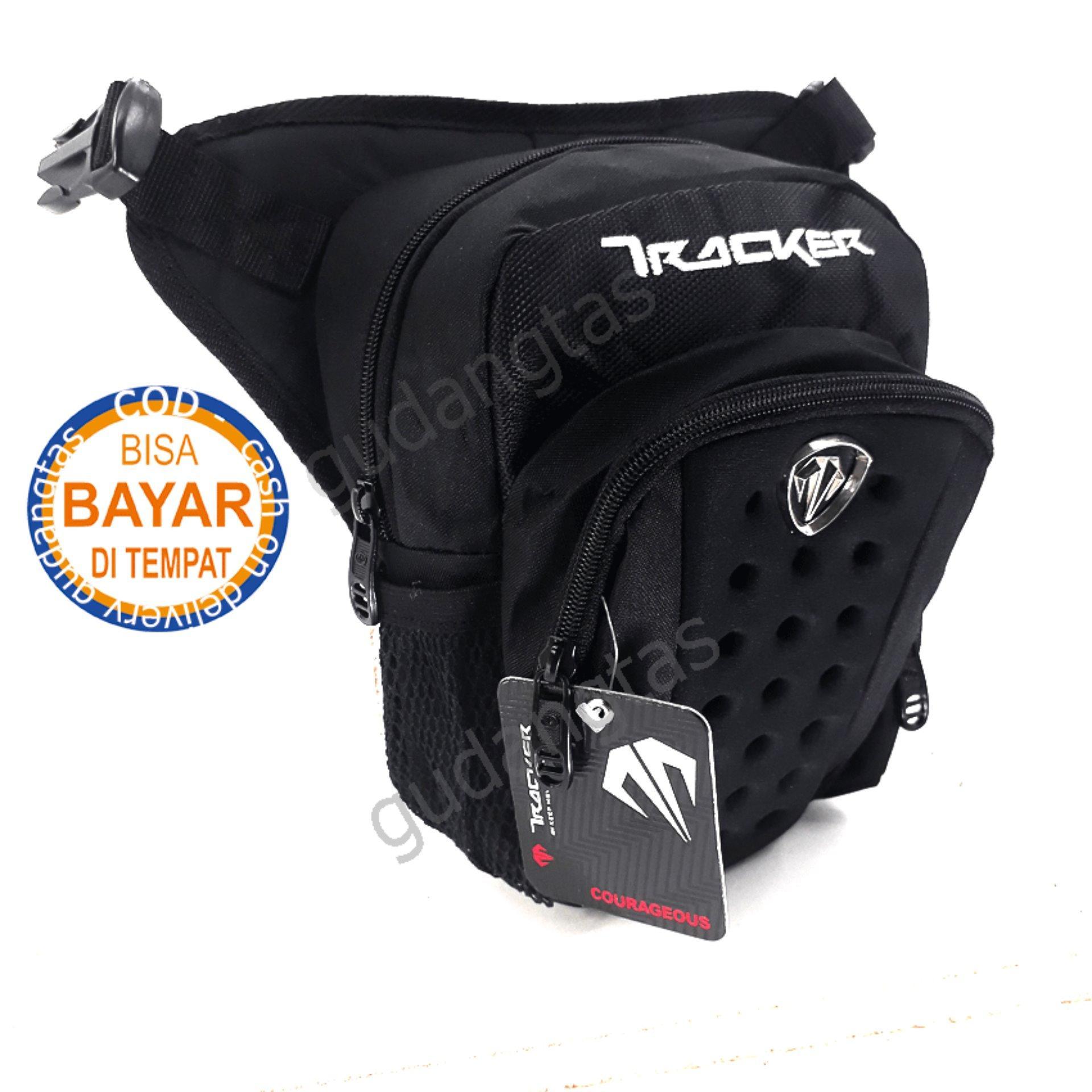 Tas Tracker Tas Paha Pria Tas Pinggang Tas Selempang 4215 3in1 D300 Nylon Emboss Waterproof  – Black