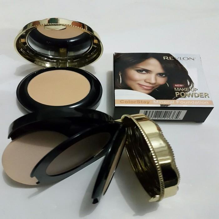 Kidstafun - BEDAK REVLON 2IN1 TWO WAY CAKE + COMPACT COLORSTAY MINERAL FOUNDATION azzh - Multicolor