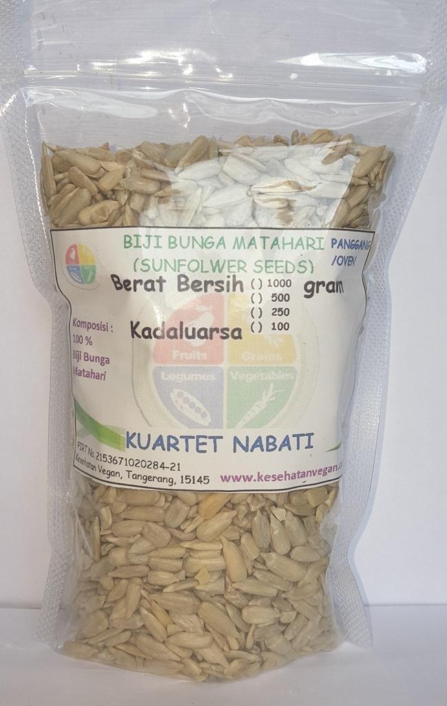 Roasted Sunflower Seed / Biji Bunga Matahari Kupas - Oven / Matang / Panggang - Rasa Original 250 Gr
