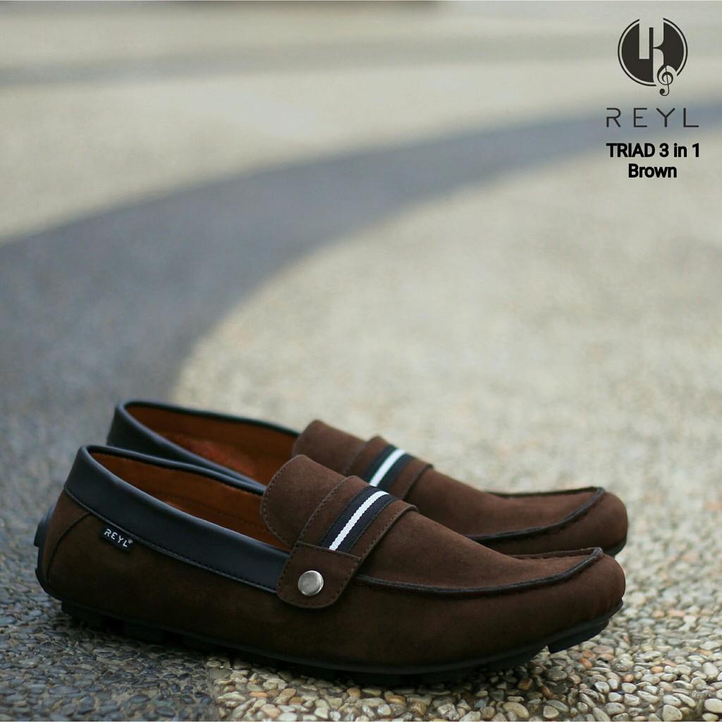 Reyl Shuffle Original  Sepatu Casual Kulit  Sepatu Pria Original Keren Adidas Nike Casual Slip On