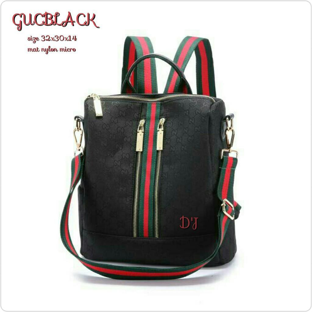 BEST SELLER!! RANSEL GUCCI DIMANNE PARASUT 52333 IMPORT backpack pria wanita kuat bagus HAPPY