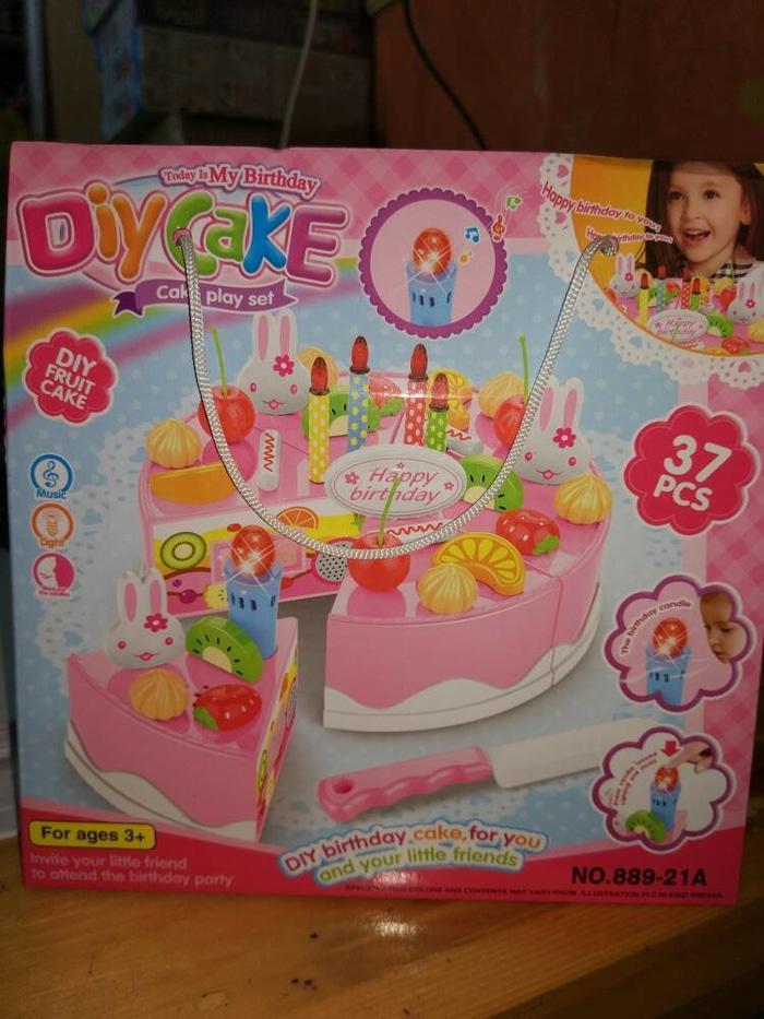 DIY Fruit Cake Playset/Mainan Kue ulang Tahun/Mainan keterampilan Anak - dpDkCd
