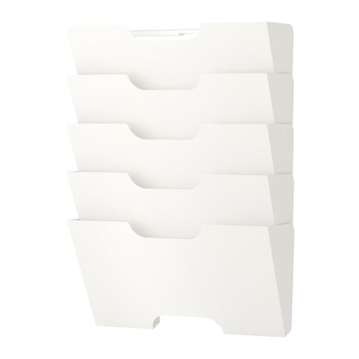 IKEA KVISSLE Wall Magazine Rack, Rak Majalah Koran, Putih