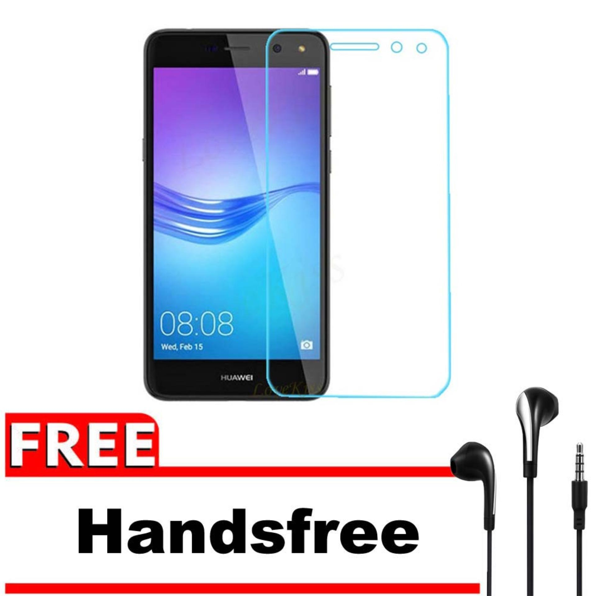 Tempered Glass 9H Screen Protector 0.32mm + Gratis Free Handsfree Earphone Headset .