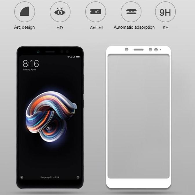 HMC Xiaomi Mi A2 / Mi 6X - 2.5D Full Cover Tempered Glass - Lis