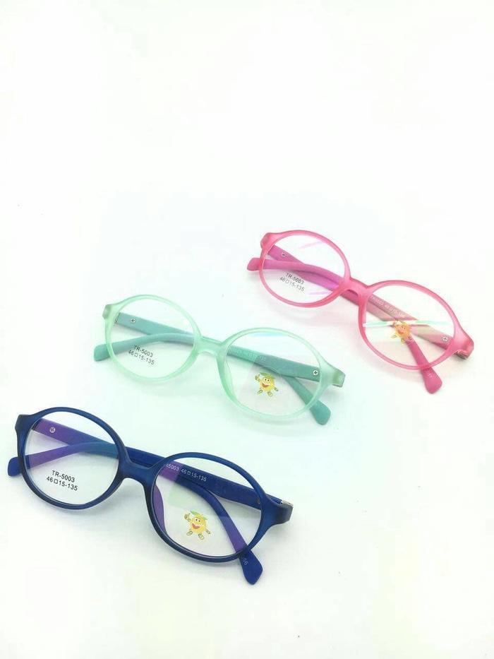 Paket Frame Kacamata Anak LEMON KIDS Ouval + Lensa Minus Antiradiasi 0358d2eadb