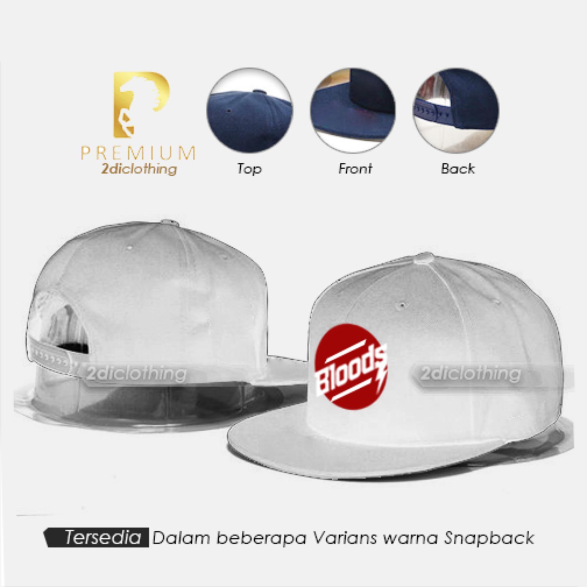 Topi distro snapback Bloods White Premium