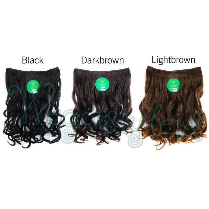 HAIRCLIP KERITING PENDEK 40 CM HAIR CLIP CURLY KOREA INSTACLIP (111) - COSME18