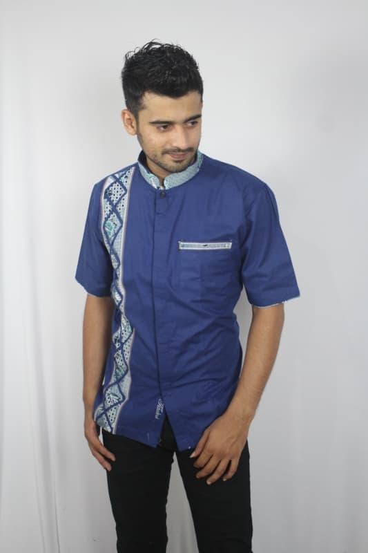 Baju koko batik baru, busana muslim pria kualitas premium TN 66 biru - Baju koko muslim pria terbaru / Baju koko muslim pria termurah / Baju koko muslim pria berkualitas / Baju koko muslim pria trendy / baju casual / kemeja pria / baju koko lebaran / baju