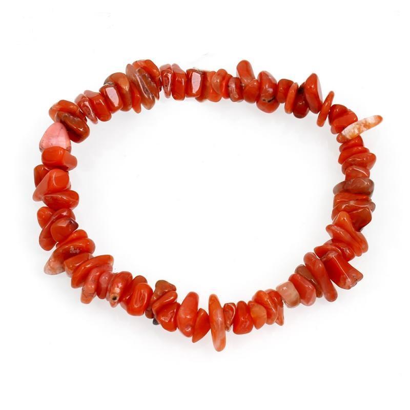 Gelang Kerikil Batu Tiger Eye Aventurine Red Coral Lapis Lazuli Etnik Gemstone Chips