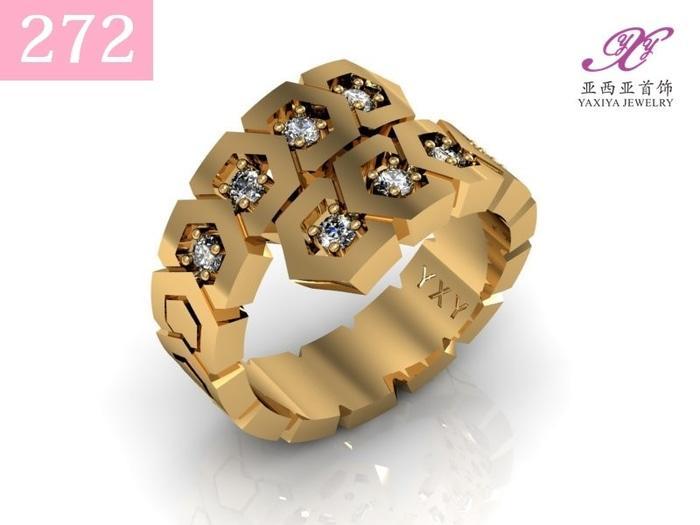 Cincin Lapis Emas Permata Perhiasan Imitasi  Jewelry 272