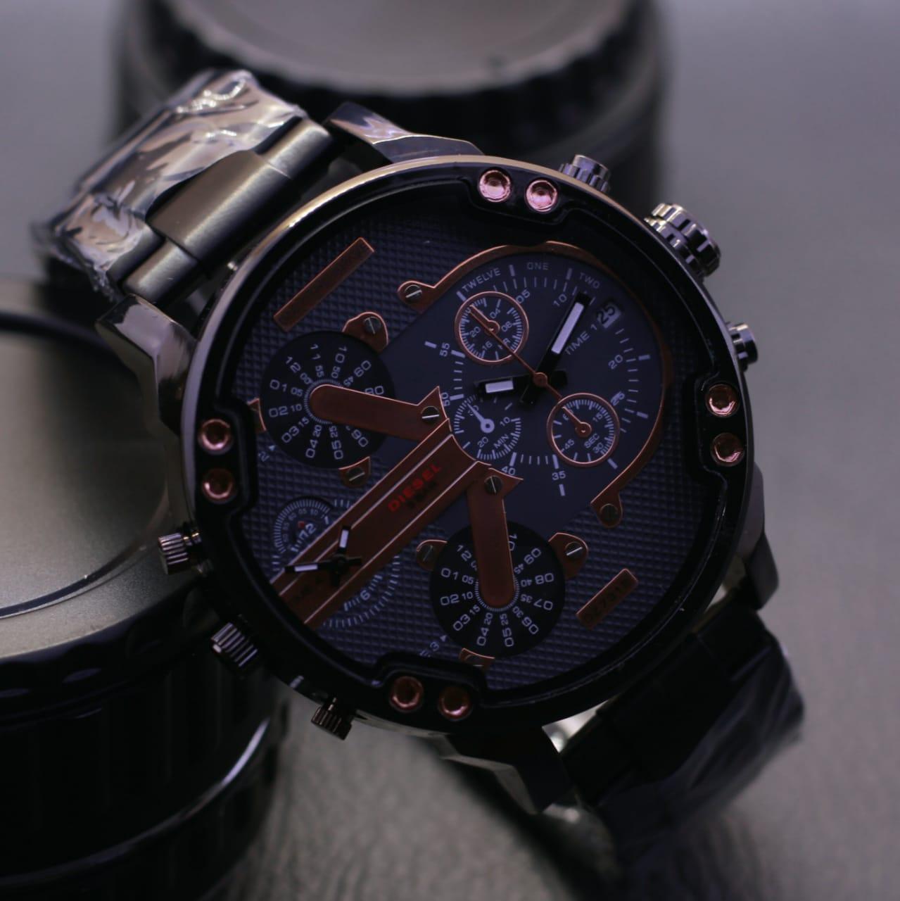 Diesel-Huge jam tangan pria doubel time fbf2ebba46