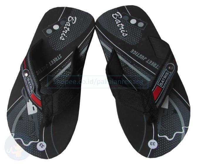 Sandal Jepit Kualitas Super untuk Anak Laki Size 33-37 Bahan Spons Ringa dan Bagian Jepitnya Terbuat dari Bahan Kain Kanvas