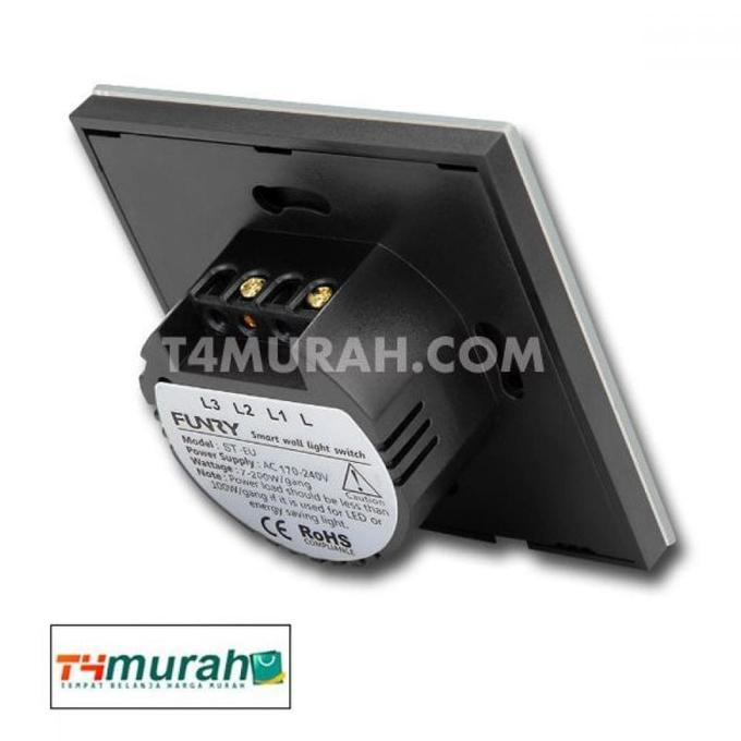 SAKLAR LAMPU I-TOUCH PANEL - WIRELESS 433 MHZ - ELEKTROZONE