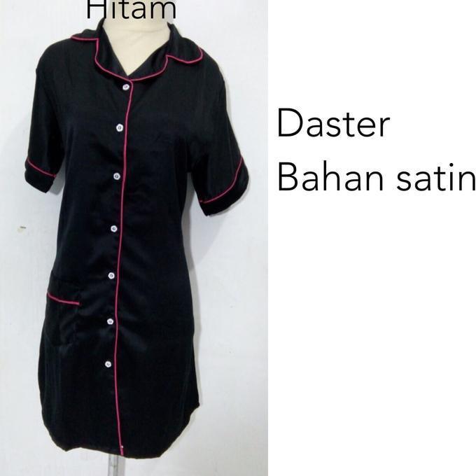 Daster Piyama Baju Tidur Dewasa Wanita Satin Kancing Depan Sleepwear  Ghtpoef