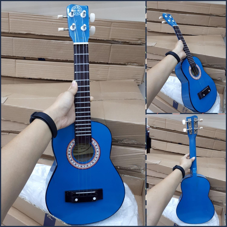 Fitur Gitar Ukulele Kentrung 4 Senar Nylon Premium Quality Merk Warna Cowboy Fox Aksutik Import Gratis Pick Packing Dus Kecil