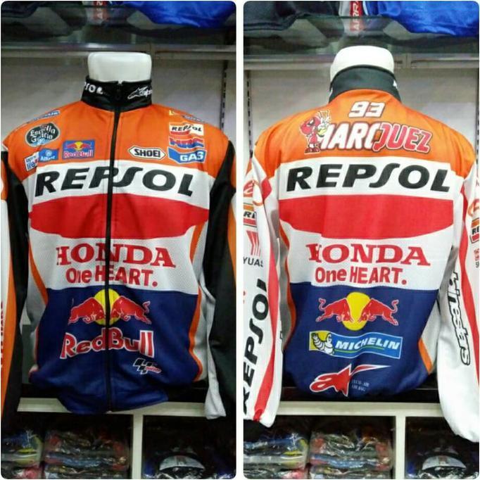 Jaket Motocross Motogp Drag Repsol - Fdefudf