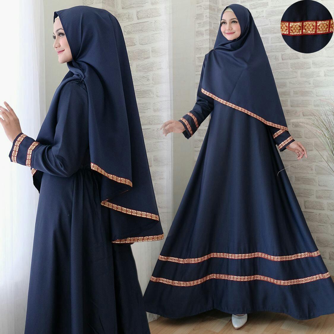 Snowshop Gamis Syari 2in1 Jasmine ( Dapat JIlbab ) - Full Balotely Kombinasi Pita Songket / Maxi Muslim / Baju Muslim / Stelan Muslim / Dress Muslim / Gaun / Pasmina / Fashion Muslim / Balotelly