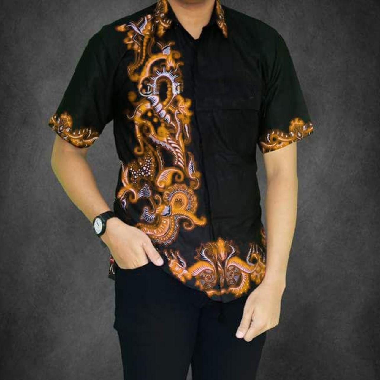 Model Baju Batik Pria Modern Casual Terbaru  Baju Batik Pria Lengan Pendek Terbaru  Kemeja Batik Pria Modern Kombinasi   Hem Batik Pria  Azka Batik