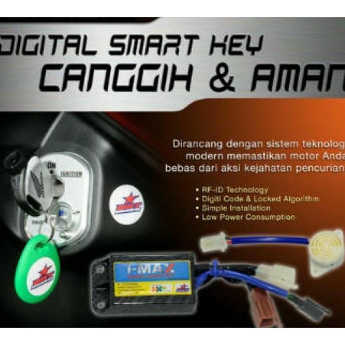 Alarm Motor Honda Beat Pop Fi Injection I-Max Digital Smart Key - Motomobi064