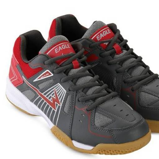 asli EAGLE ECLIPSE ORIGINAL. GREY.  Sepatu Badminton Bulutangkis Original