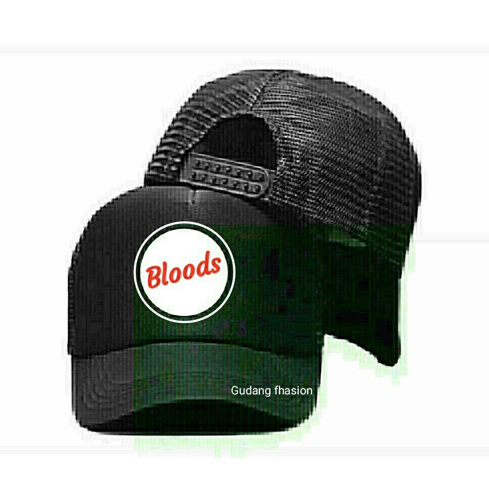 Topi Premium Trucker Jaring Bloods Black