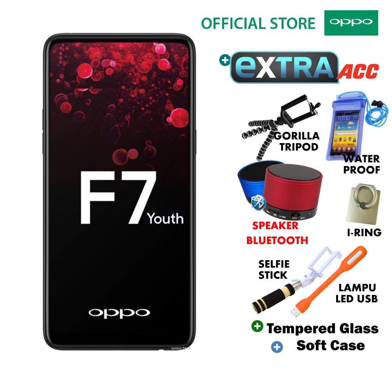 OPPO F7 YOUTH 4/64GB - Black Plus Extra Bonus