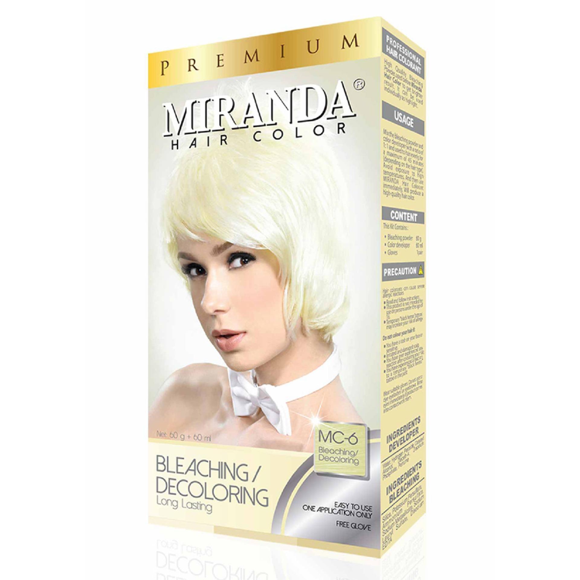 Miranda Permanent Hair Color Cat Rambut MC-6 - Bleaching