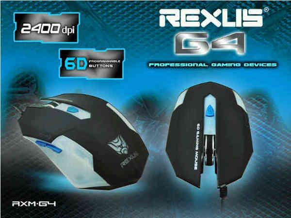 Rexus Mouse Gaming RXM-G4 - Black