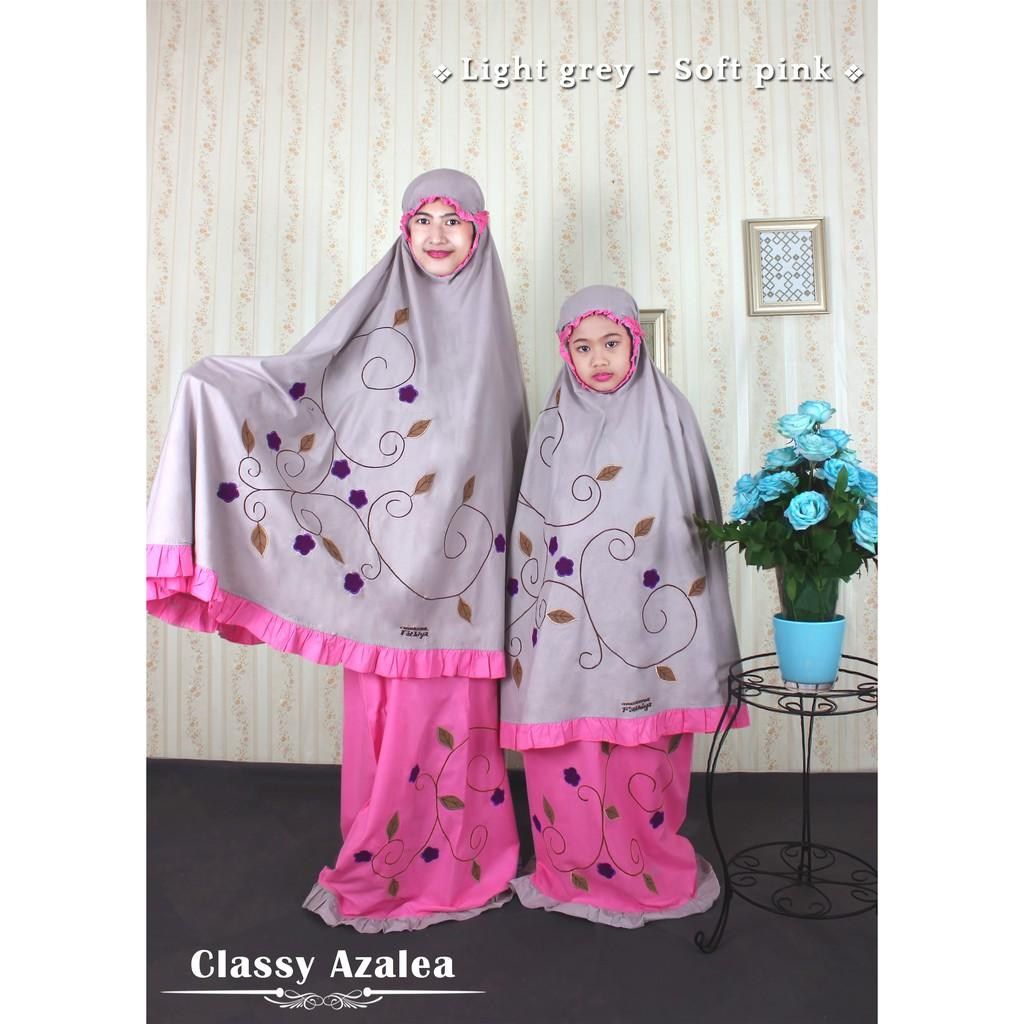 Harga Jual Mukena Couple Fathiya 290000 Anak Dheana By Tatuis Tiara 320 Grey Katun Bordir Untuk Atau Dewasa Bisa Tipe Model Classy Azalea Pink